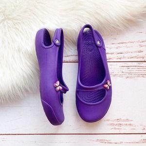 CROCS Gabby Purple Slingback Ballet Flats